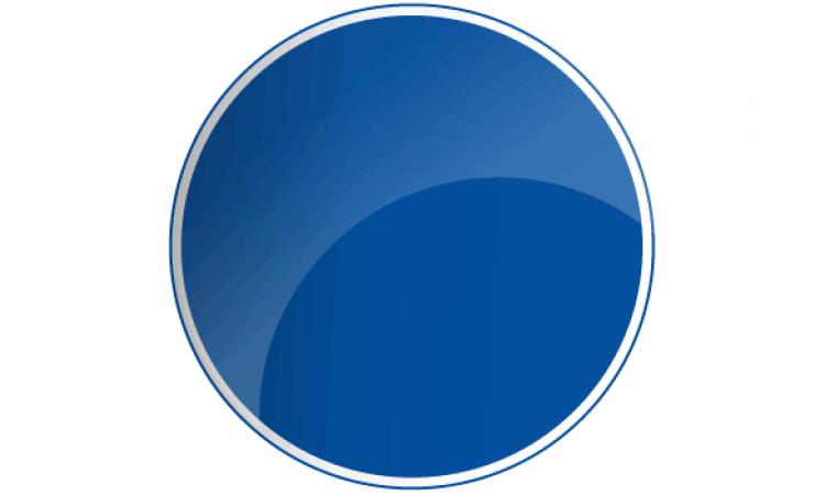 Blank Blue Round