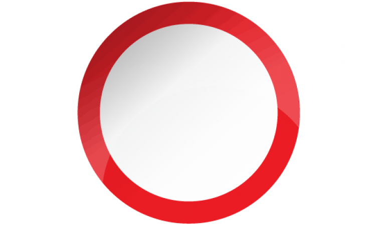 Blank White Round