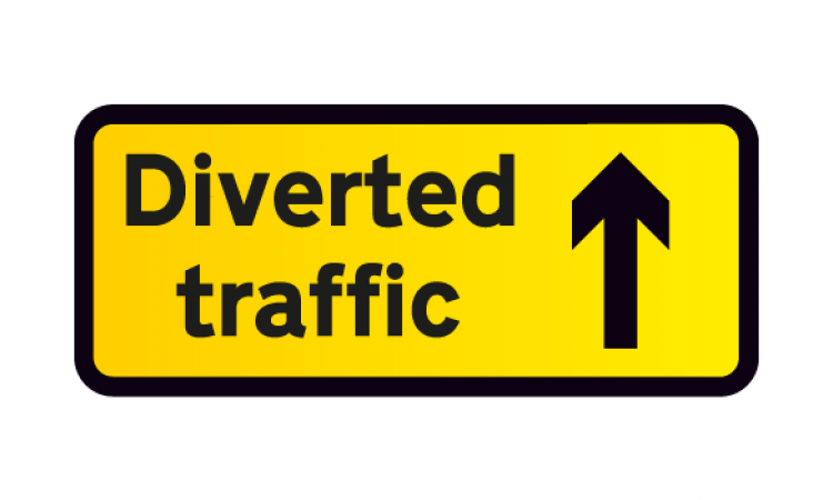 Diverted Traffic Ahead