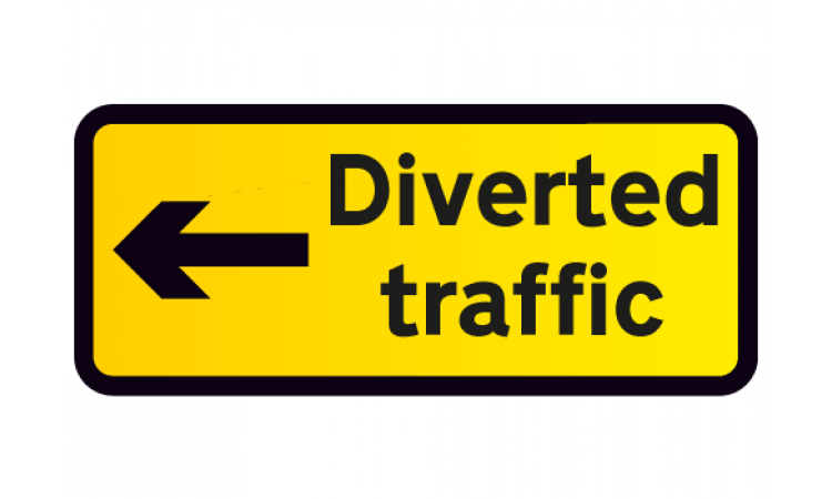 Diverted Traffic Left