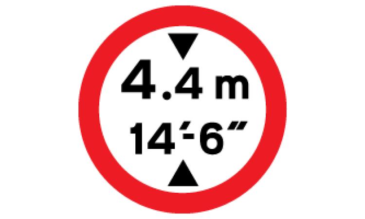Low bridge signs