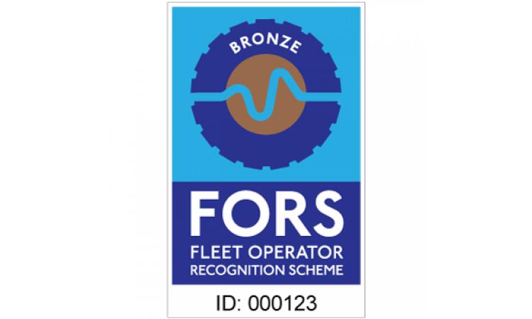 FORS bronze contractor sticker