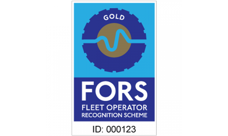 FORS gold contractor sticker