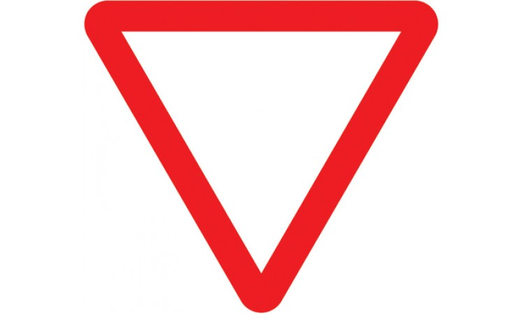 Junction ahead controlled by a STOP or GIVE WAY sign
