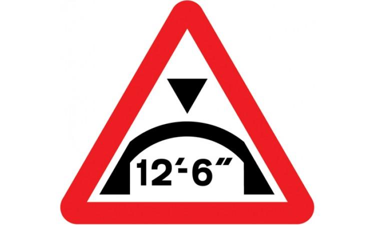 Maximum headroom of 12'-6'' at arch bridge ahead