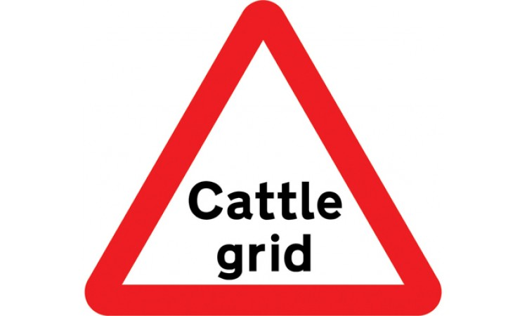 Cattle grid ahead