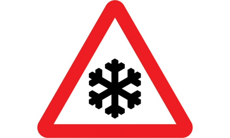 Risk of ice or packed snow ahead
