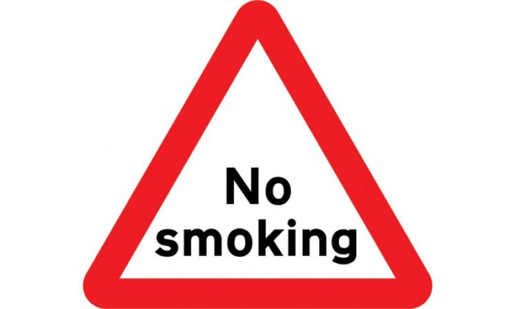 No smoking warning