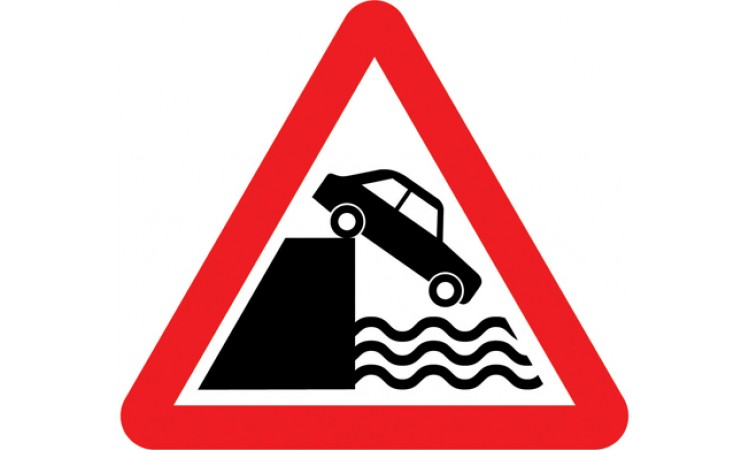 Quayside or river bank ahead