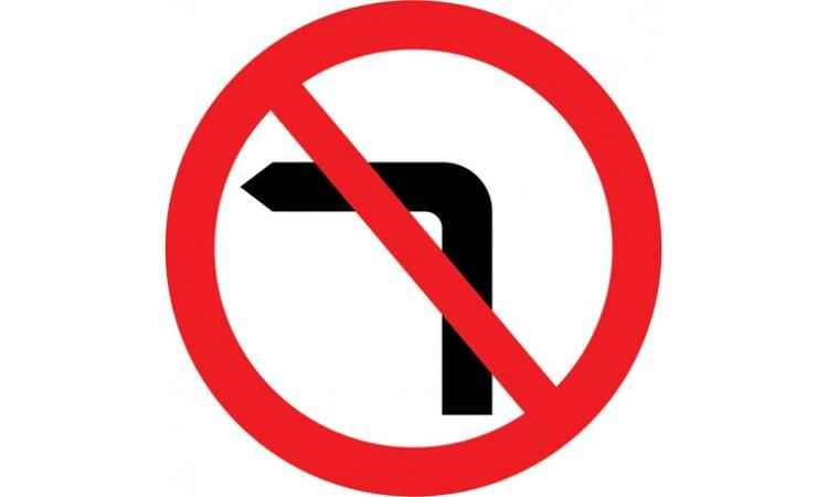 No left turn for vehicular traffic