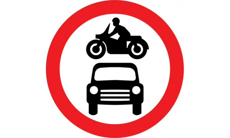 Motor vehicles prohibited