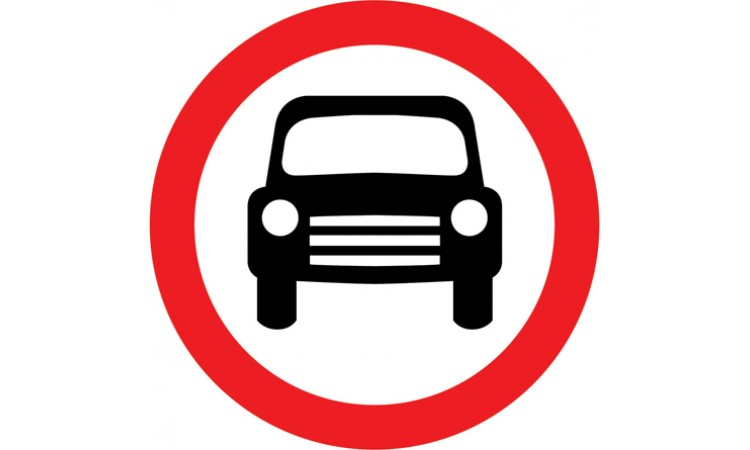 Motor vehicles except solo motor cycles prohibited