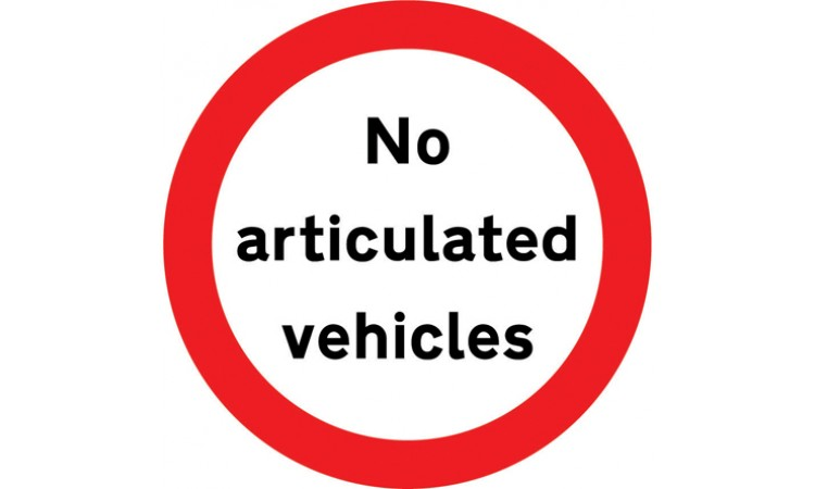 Articulated vehicles prohibited