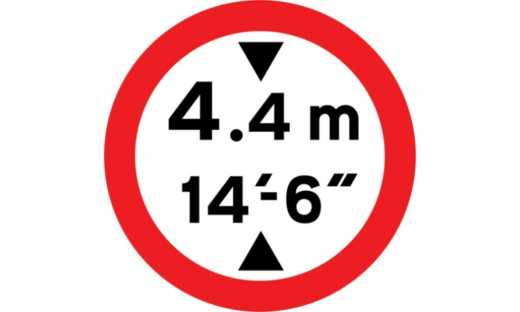Vehicles exceeding 14'-6'' in height prohibited