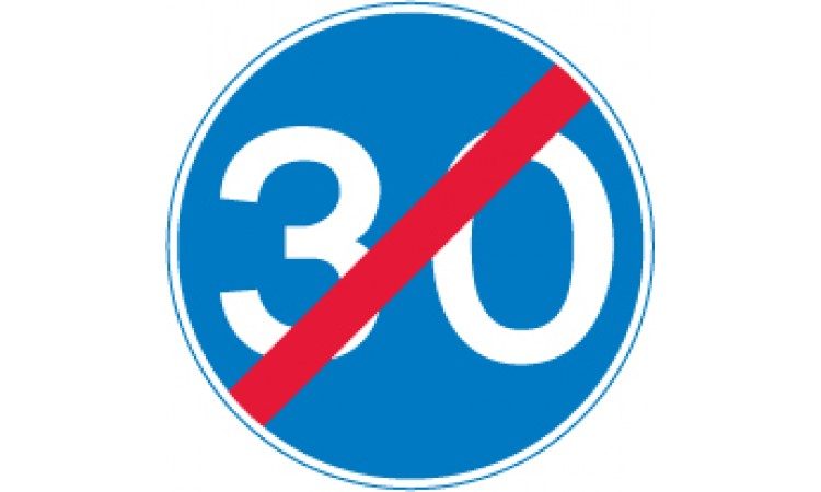 End of 30 miles per hour minimum speed limit