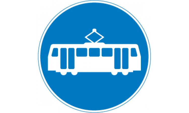 Route for use by buses and tramcars only