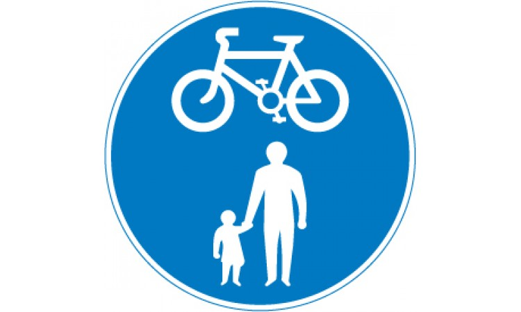 Route for use by pedal cycles and pedestrians only